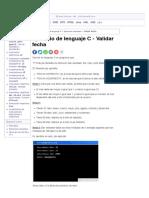 Ejercicio de lenguaje C - Validar fecha | Tutorial de lenguaje C | Abrirllave.com