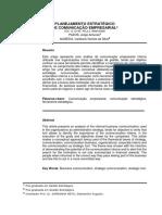 Planejamento Estratégico de Comunicação Empresarial