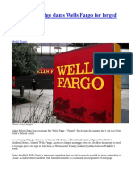 1- NY Federal Judge Slams Wells Fargo for Forged Mortgage