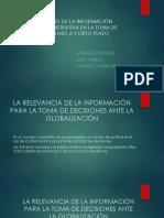 Papel de La Información Administrativa en La Toma de Decisiones a Corto Plazo