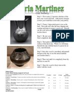 maria martinez pottery rubric