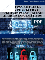 Ramiro Francisco Helmeyer Quevedo - Expertos Critican La Falta de Cultura y Políticas Para Prevenir Ataques Informáticos