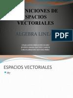 Definiciones de Espacios Vectoriales