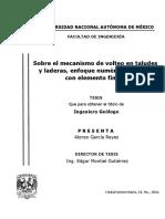 Sobre El Mecanismo de Volteo en Taludes y Laderas, Enfoque Numérico Aplicado Con Elemento Finito (1)