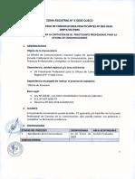 Cusco Practicantes 003-2019 Bases