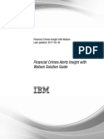 IBM Financial Crimes Alerts Insight with Watson Solution Guide