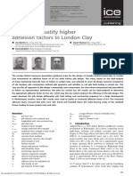 Pile Tests to Justify Higher Adhesion Factors in Londan Clay