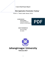 Analysis of Web Application Penetration Testing