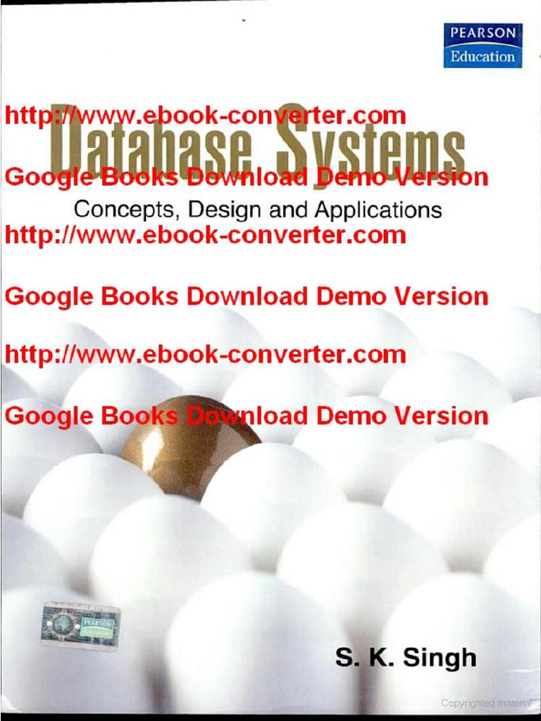 Pdf Database Systems Concepts Design And Applications By S K Singh Docx