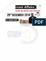 Online Current Affairs Free PDF in English of 29 Dec 2018 From StudyIQ