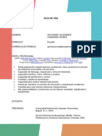 Hoja de vida - curriculum vitae - TesisLatinoamérica.com