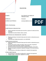 Hoja de vida - curriculum vitae - Zulycris Vásquez