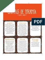 Cartas de drama - D&D