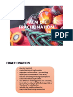 Palm Oil Dry Fractionation