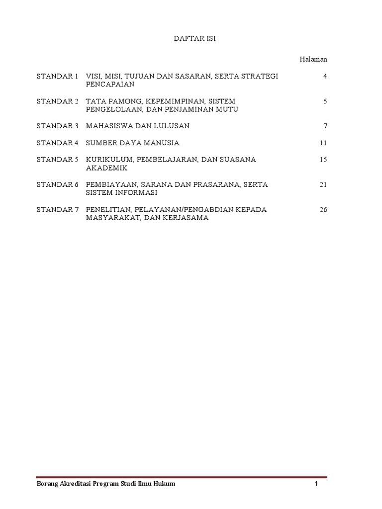 Borang Prodi Hukum Copy
