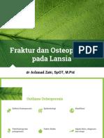 Fraktur Dan Osteporosis Pada Lansia