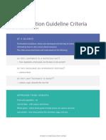 Disney Nutrition Guideline Criteria