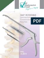 RZ 360 Rotatable Lamina Foramina Kerisson Punches