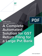 A Complete Automated Solution for Gst Returns for a Large Pvt Bank