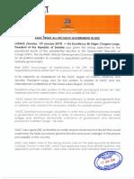 Aankondiging SADC over Congo