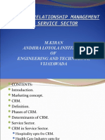 Crm in Service Sector Kiran Upload
