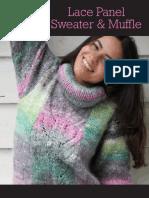 NORO - Nadeshiko Lace Panel Sweater & Muffle Y-961.8462