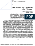 Price 1982 a Causal Model of Turnover for Nurses