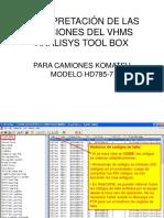 Interpretación VHMS Para HD785-7