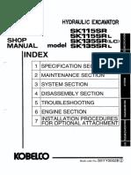 Kobelco SK115SR SK115SRL SK135SR SK135SRLC SK135SRL Crawler Excavator Service Repair Shop Manual(YV01-00101  YY01-00101  YH01-00101