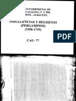 Libro de indulgencias y reliquias 1556-1733