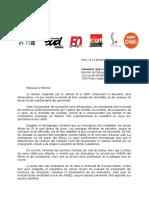 Courrier syndical évaluation mi-CP
