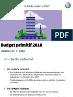 Presentation Du Budget Primitif 2018