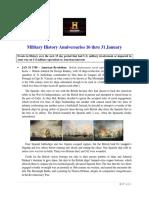 Military History Anniversaries 0116 Thru 013118