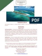 Advert - 15 January 2019 - Job Maldives (1)