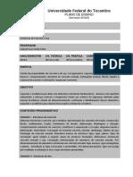 Plano de Ensino - Estruturas de Concreto e Aço - 2018.2 (UFT)