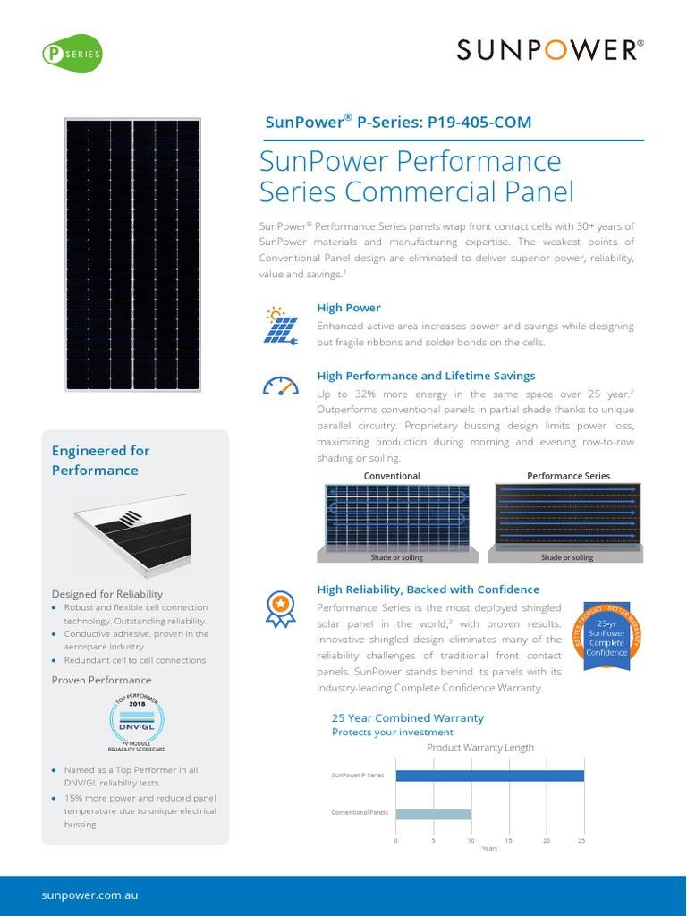 Ds Sunpower Performance Panels p19 Com 1kv Au   Electrical Wiring