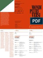Concerti - Mondi Pluriversi - Carlo Belli 148x210 Programma Di Sala