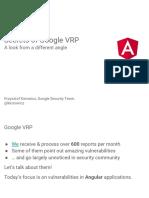 Secrets of Google VRP - Ruhrsec 2017