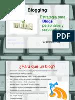 Estrategia Para Blogs Corporativos