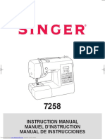 Singer 7258 Instruction Manual