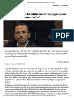 """Une figure du banditisme corse jugée pour vol d'""""huile d'immortelle"""""""