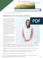 MEDIT Meditation for the Neutral Mind _ 3HO Foundation