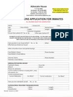 Advocate House Inmate Application