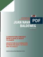Conversaciones con Navarro Baldeweg