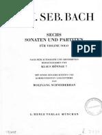 2010020813332 FP 698 J S BACH Partita Para Violin Solo Num 1 Si Menor BWV 1002