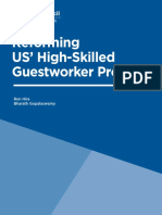 Reforming US' High-Skilled Guestworker Program
