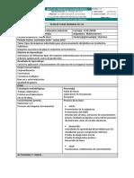 Planificación de Clase Semanal 1matricería III