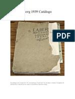 Berg 1939 Catálogo
