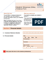 Sfe Dsa Disability Evidence Form