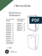 Ge Dishwasher Gld Gdw Ghdt Gdwt Pdwt Glc Service Manual